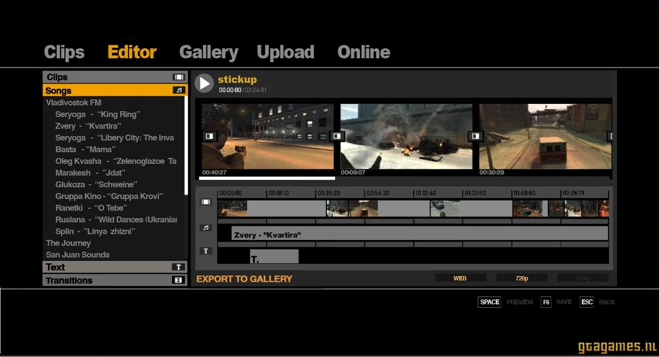 Muziek uitzoeken in de Video Editor