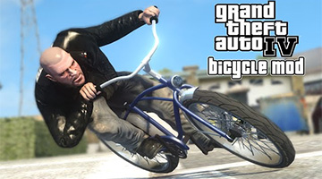 Filmpje: GTA4 The Lost and Damned op een fiets!