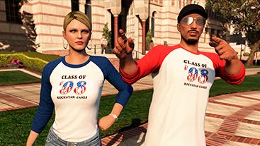 Blue en Red Class of '98 t-shirts