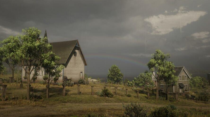 Regenboog bij Blackwater.