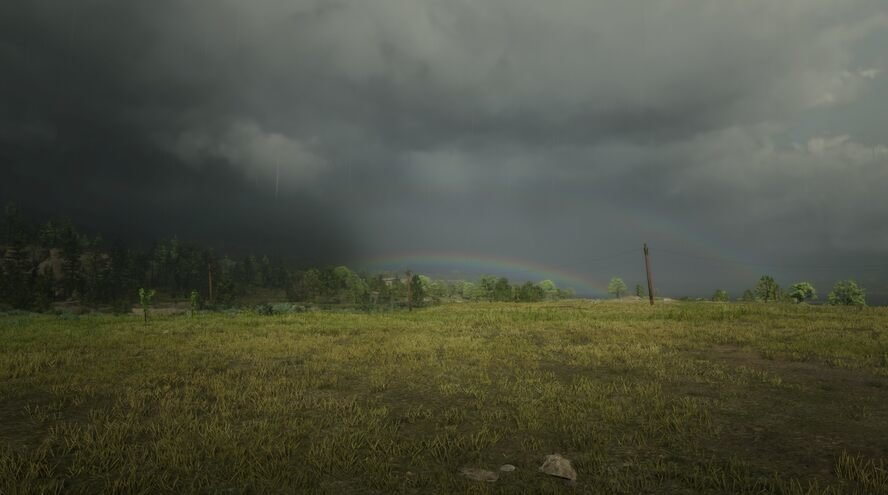Regenboog bij Blackwater